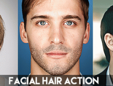 Facial Hair Photoshop Action(给人物加胡须ps动作)